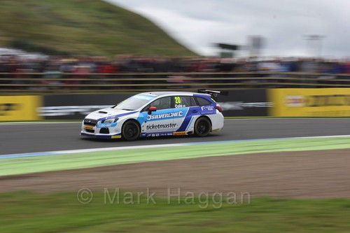 James Cole in the BTCC race 2 during the Knockhill Weekend 2016