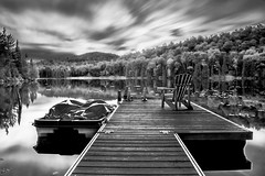 lac franc [bw] (s.W.s.) Tags: morinheights quebec lacfranc lake bw blackandwhite longexposure ndfilter bulbmode jetty chair water nature nikon d3300 10stop lightroom canada