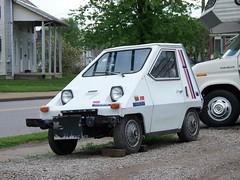 OH Zanesville - Electric Car (scottamus) Tags: zanesville ohio muskingumcounty vehicle roadside odd strange unusual weird car electric