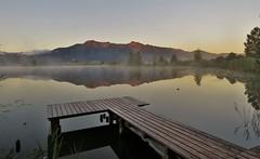 Adrian Vesa Photography (adr.vesa) Tags: lake water mist morning fog nabel bridge pier panorama sunrise landscapes hills mountains reflexion