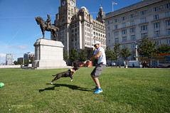 DSC06207 (liverpix) Tags: cleo dog performing anthonywalsh photowalk 500px liverpool pierhead liverbuilding ballerina ballet