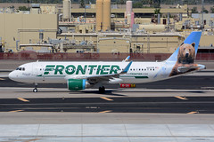 N227FR-PHX200915 (MarkP51) Tags: n227fr airbus a320214 frontierairlines frontier griswaldbear phoenix skyharbor airport phx kphx arizona airliner aircraft airplane plane image markp51 aviation nikon d7100 aviationphotography