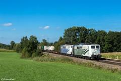 Lokomotion 151 074 und 151 056 mit KLV (TheKnaeggebrot) Tags: lokomotion 151 151074 doppeltraktion klv kbs950 hilperting
