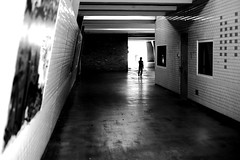 In front of the wall of light (pascalcolin1) Tags: paris13 lumire light ombre shadow mur wall enfant child photoderue streetview urbanarte noiretblanc blackandwhite photopascalcolin