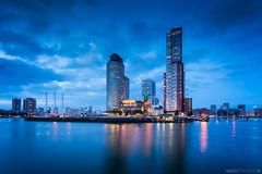 Blue Port of Rotterdam (Anthony Malefijt - www.malefijtfotografie.nl) Tags: rotterdam blue hour holland nederland urban landscape cityscape blauw uur landschaft serene lights city skyline nikon wwwmalefijtfotografienl