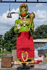 Green Hanuman Bangalore (Anoop Negi) Tags: bangalore bengaluru india hanuman idol statue primary red green blue color anoop negi ezee123 kanakpura road karnataka standing maruti