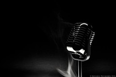 Last song at the jazz club (Rentoumis Phoography) Tags: microphone jazz club jazzclub smoke sigarette noir