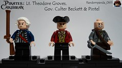 Lt. Theodore Groves, Gov. Culter Beckett & Pintel (Random_Panda) Tags: films film movie movies tv show shows television lego figs fig figures figure minifigs minifig minifigures minifigure purist purists character characters pirates of the caribbean pintel cutler becket at worlds end dead mans chest
