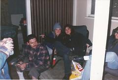 Garage Party (STUDIOZ7) Tags: women girls men smoking smoker cigarette layspotatochips beer winter cold party drinking budweiser