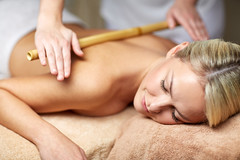 Come experience the secrets of relaxation in LakeView at Fontana (Lakeviewatfontania) Tags: smokymountainresorts smokymountainshotels everetthotelbrysoncity romanticgetawaysinnorthcarolina ashevilleboutiquehotel spasmokymountains happy woman beauty spa lying bamboo massage massaging cane hands massagist masseur professional treatment therapist therapeutic luxury salon female girl beautiful person people concept young leisure lifestyle healthy health relaxing relax wellness wellbeing thai therapy bodycare back relaxation indoors recreation healthcare medicine body care pampering closed eyes bare smiling closeup