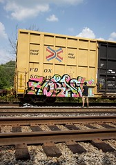 Horace action shot (Dixie Destruction) Tags: railroad art wet car train painting graffiti shot action box live rail moms crew rails boxcar piece freight horace koc fr8 railbox