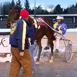 43 - race 12 - Casino Showgirl w/ Larry Lake entering the winner's circle thumbnail