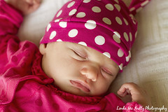 Ruby Ellen (linda_mcnulty) Tags: pink sleeping baby cute girl hat sleep naturallight polka polkadots babygirl newborn newbaby
