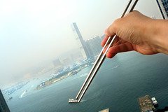 One that almost got a way (briyen) Tags: food sushi lunch harbor boat chinese diner hong kong chopstick juxtaposition icc thepinnaclehof tphofweek184