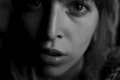 YoungBlood (BlueSkin Pictures) Tags: auto portrait bw selfportrait girl self 35mm nikon autoportrait noiretblanc plan nb blond blonde fille gros insert blondhair d3100