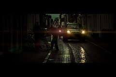 Sparkling Eyes (Jeff Krol) Tags: street urban cinema reflection wet netherlands car rain canon dark eos lights eyes nederland streetphotography scene flare vehicle motor groningen cinematic f28 sparkling dutchstreet 2012 straat 70200mm heist 70200l straatfotografie ef70200mmf28lusm 60d canon60d jeffkrol img961020120929