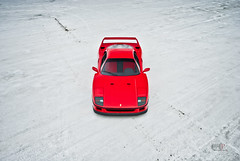 Ferrari F40 at Bonneville Salt Flats (Folk|Photography) Tags: city red white lake photography utah folk empty salt automotive ferrari flats gil desolate supercar bonneville wendover f40 worldcars