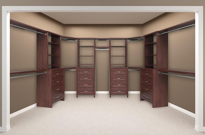 Impressions Walk In Dark Cherry Bedroom 6 Empty (ClosetMaid) Tags: Bedroom  Impressions