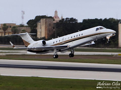 London Executive Aviation --- Embraer EMB-135BJ Legacy --- G-HUBY (Drinu C) Tags: plane aircraft sony panning legacy dsc embraer mla lmml londonexecutiveaviation ghuby hx100v adrianciliaphotography