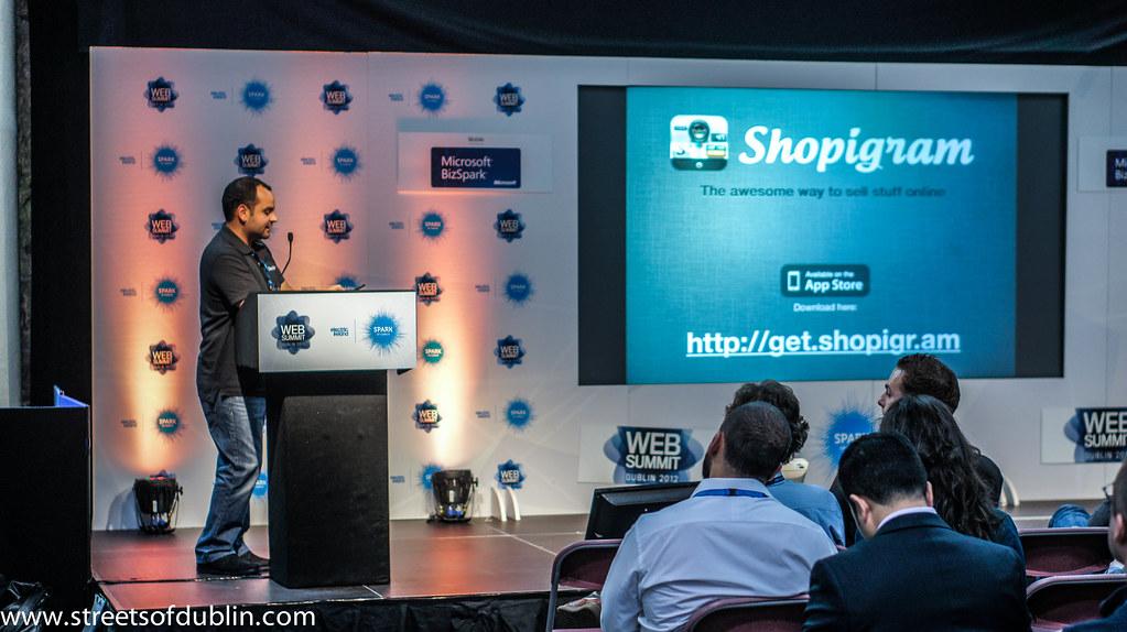 Making A Presentation: Web Summit 2012 In Dublin (Ireland)