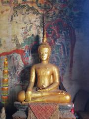 Seated Buddha, Luang Prabang, Laos (HeyItsWilliam) Tags: travel asia southeastasia buddha religion buddhism olympus laos lao ep1 laotian louangphrabang