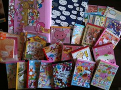 Entire Collection Must Go!!! (MexiPoff) Tags: hellokitty stickers sanrio kawaii stationery crux stationary qlia sanx kamio memopad foodwithfaces