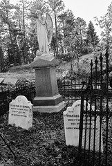 The End of Pioneers (jmhouse) Tags: blackandwhite southdakota wildwest deadwood stambrosecemetery