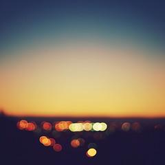 Crdoba Bokeh (JavierAndrs) Tags: city blue sunset sky orange argentina colors azul atardecer 50mm lights luces nikon dof view bokeh horizon 14 ciudad colores depthoffield desenfoque vista cielos nikkor crdoba naranja horizonte d3100