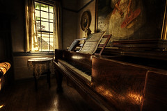 The Parlor Remix (dbnunley) Tags: wood autumn light window canon painting table warm floor lace antique piano hdr 60d