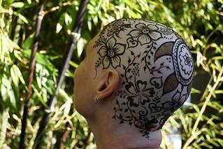 Floral henna crown