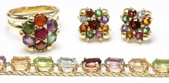 1019. Group of Multi Gem and Gold Jewelry