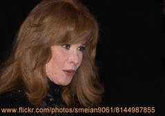 Stefanie Powers (iron_smyth48) Tags: red portrait woman white celebrity film face television female hair carpet star glamour eyes dress event actress premiere celeb