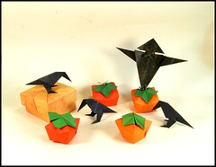 Pumpkin Patch (rebecccaravelry) Tags: pumpkin origami box scarecrow crow fuse tomokofuse