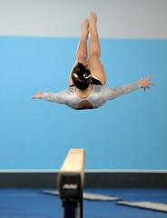 DSC_7693 (K.M. Klemencic) Tags: school lady high gymnastics medina hudson explorers strongsville
