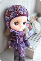 purples (megipupu) Tags: handmade helmet blythe granny middie megipupu