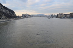 The Danube river through Budapest