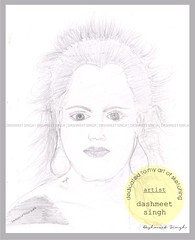 Unknown Lady (Dashmeet Singh Bhatia) Tags: india by lady sketch artist unknown singh bhatia dashmeet
