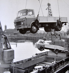 Commers For Export (colinfpickett) Tags: water docks ship crane 1960s shipping loading classictruck commer vintagetruck famoustruck