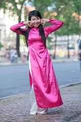 Ti-334 (panerai87) Tags: pink church vietnam saigon traditionaldress tien aodai