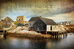 Another Postcard from Peggy's (sminky_pinky100 (In and Out)) Tags: travel houses sea canada water landscape fishing community rocks novascotia postcard landmark huts textures coastal peggyscove iconic omot hrbour tourusm cans2s exhibitionoftalent texturingtheworld masterclassexhibition masterclasselite texturemyworld