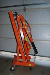 Engine Hoist (cjacobs53) Tags: orange stand lift engine jacobs hoist oot jacobsusa 365orless 113picturesin2013 2013picture