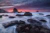 The Starfish Congregation (Willie Huang Photo) Tags: ocean sf california city sunset sea sky seascape beach water rock landscape coast sand waves pacific mile milerockbeach