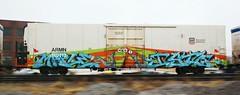 Maple/Isto (quiet-silence) Tags: railroad art train graffiti maple railcar unionpacific graff freight reefer isto tci akb armn fr8 endtoend e2e armn110113