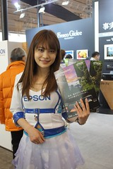 Epson Booth (shinnygogo) Tags: show woman japan booth photography women event international babes imaging yokohama feb showgirls kanagawa  pacifico cipa boothgirls     campaigngirl   2013 cpplus   cp2013