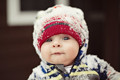First Time In The snow (Robby Ryke) Tags: boy portrait baby snow hat cutie covered