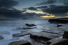 """Sr Mary's Lighthouse at Dawn with High Tide<br /><span style=""""font-size:0.8em;"""">Sunrise photoshoot at Old Hartley in Ian Purves' blog <a href=""""http://purves.net/?p=1070"""" rel=""""nofollow"""">purves.net/?p=1070</a></span> • <a style=""""font-size:0.8em;"""" href=""""https://www.flickr.com/photos/21540187@N07/8441438606/"""" target=""""_blank"""">View on Flickr</a>"""