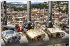 Locked city (Olivia Heredia) Tags: tlaxcaladexicohtncatl escalinatadeloshroes stairs city town church locks lockedcity tlaxcala paisaje exteriores mxico mexico familia family oliviaheredia hdr highdynamicrange 1exp tonemapping tonemapped oliviaherediaotero