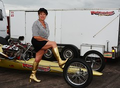 Ruth_7111 (Fast an' Bulbous) Tags: girl woman mature milf hot sexy chick babe drag dragster race car vehicle automobile fast speed power santa pod skirt boots people outdoor nikon motorsport d7100 gimp