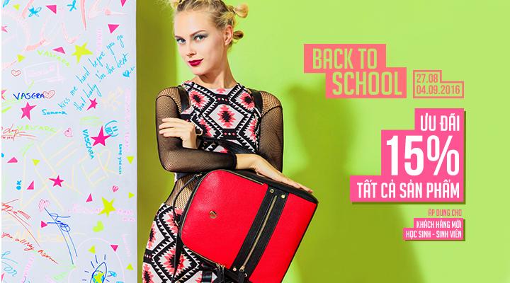 Vascara - Back To School - Ưu đãi 15% tât cả sản phẩm