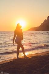 , : The golden hour (sbouboux) Tags: corfu kerkyra greece hellas canon 550d 50mmolympuszuiko 50mm    glyfada beach goldenhour sun sunset sea orange blue sand ionianislands ionianbeauty ionian